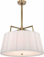 Hudson Valley 4832-AGB Humphrey Aged Brass 31.5  Drum Hanging Pendant Lighting