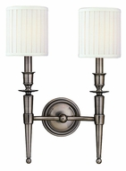 Hudson Valley 4902 Abington 18 Inch Tall 2 Lamp Wall Lighting With Shades