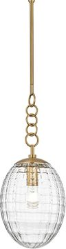 Hudson Valley 4908-AGB Venice Contemporary Aged Brass Mini Drop Lighting Fixture