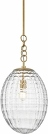 Hudson Valley 4912-AGB Venice Contemporary Aged Brass Pendant Light