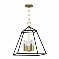 Hudson Valley 4919-AGB Webster Aged Brass 19 Wide Foyer Lighting Fixture