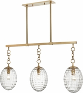 Hudson Valley 4940-AGB Venice Contemporary Aged Brass Kitchen Island Light