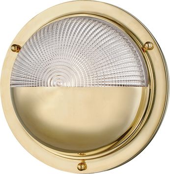 Hudson Valley 5011-AGB Hughes Contemporary Aged Brass LED Lamp Sconce