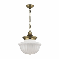 Hudson Valley 5012-AGB Dutchess Aged Brass Pendant Hanging Light