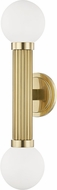 Hudson Valley 5102-AGB Reade Modern Aged Brass Wall Sconce