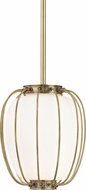 Hudson Valley 5110-AGB Ephron Modern Aged Brass Mini Ceiling Pendant Light