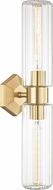 Hudson Valley 5124-AGB Roebling Contemporary Aged Brass Lamp Sconce