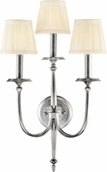 Hudson Valley 5203-PN Jefferson Polished Nickel Wall Lighting Sconce