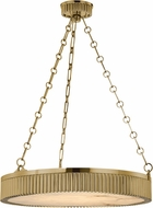 Hudson Valley 522-AGB Lynden Vintage Aged Brass 22  Drum Pendant Lighting