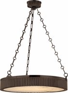 Hudson Valley 522-DB Lynden Vintage Distressed Bronze 22  Drum Lighting Pendant