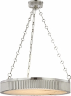 Hudson Valley 522-PN Lynden Retro Polished Nickel 22  Drum Pendant Lamp