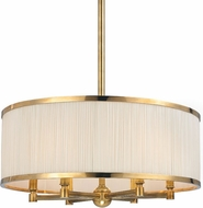 Hudson Valley 5224-AGB Hastings Aged Brass 24  Drum Ceiling Light Pendant