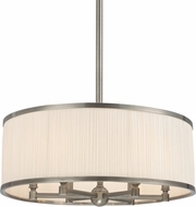 Hudson Valley 5224-HN Hastings Historic Nickel 24  Drum Ceiling Pendant Light