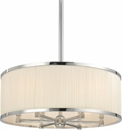 Hudson Valley 5224-PN Hastings Polished Nickel 24  Drum Drop Lighting Fixture