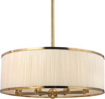Hudson Valley 5230-AGB Hastings Aged Brass 30  Drum Hanging Lamp