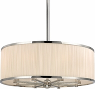 Hudson Valley 5230-PN Hastings Polished Nickel 30  Drum Pendant Lighting Fixture