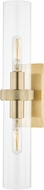 Hudson Valley 5302-AGB Briggs Contemporary Aged Brass Wall Mounted Lamp