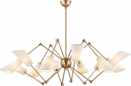 Hudson Valley 5312-AGB Buckingham Contemporary Aged Brass Lighting Chandelier