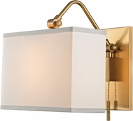 Hudson Valley 5421-AGB Leyden Aged Brass Lighting Sconce