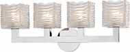 Hudson Valley 5444-PC Sagamore Contemporary Polished Chrome LED 4-Light Bathroom Vanity Lighting
