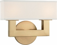 Hudson Valley 5452-AGB Clarke Contemporary Aged Brass LED 2-Light Bathroom Sconce