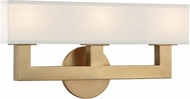 Hudson Valley 5453-AGB Clarke Contemporary Aged Brass LED 3-Light Vanity Light Fixture