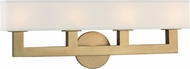 Hudson Valley 5454-AGB Clarke Contemporary Aged Brass LED 4-Light Bathroom Vanity Light Fixture
