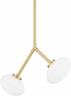 Hudson Valley 5530-AGB Wagner Contemporary Aged Brass Drop Lighting Fixture