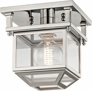 Hudson Valley 5608-PN Rutherford Polished Nickel 7.5  Ceiling Light Fixture