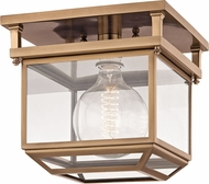Hudson Valley 5611-AGB Rutherford Aged Brass 10.5  Ceiling Lighting Fixture