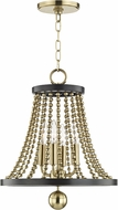 Hudson Valley 5714-AGB Spool Modern Aged Brass 14  Foyer Lighting Fixture