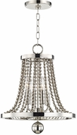 Hudson Valley 5714-PN Spool Contemporary Polished Nickel 14  Entryway Light Fixture