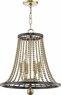 Hudson Valley 5720-AGB Spool Modern Aged Brass 20.5  Foyer Lighting