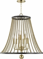 Hudson Valley 5726-AGB Spool Modern Aged Brass 26.5  Foyer Lighting Fixture