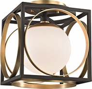 Hudson Valley 5800-AGB Wadsworth Modern Aged Brass Flush Ceiling Light Fixture