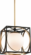 Hudson Valley 5814-AGB Wadsworth Modern Aged Brass 13.5  Hanging Pendant Light