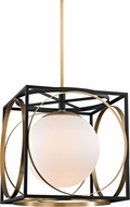 Hudson Valley 5818-AGB Wadsworth Modern Aged Brass 17.75  Hanging Light Fixture