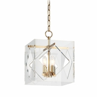 Hudson Valley 5912-AGB Travis Contemporary Aged Brass Finish 16  Tall Hanging Lamp