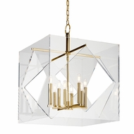 Hudson Valley 5924-AGB Travis Contemporary Aged Brass Finish 32  Tall Pendant Hanging Light