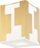 Hudson Valley 6012-AGB Acadia Contemporary Aged Brass Ceiling Light Fixture