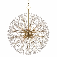 Hudson Valley 6020-AGB Dunkirk Aged Brass Mini Hanging Chandelier