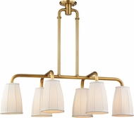 Hudson Valley 6066-AGB Malden Aged Brass Island Lighting