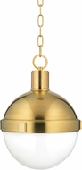 Hudson Valley 612-AGB Lambert Contemporary Aged Brass 12.5  Lighting Pendant