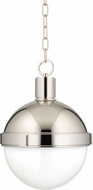 Hudson Valley 612-PN Lambert Contemporary Polished Nickel 12.5  Hanging Lamp