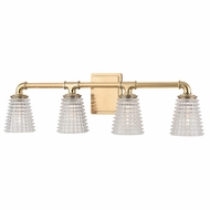Hudson Valley 6224-AGB Westbrook Contemporary Aged Brass Xenon 4-Light Vanity Lighting