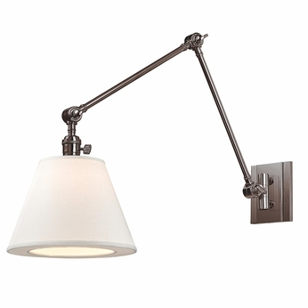Hudson Valley 6234-HN Hillsdale Retro Historic Nickel Finish 34  Tall Wall Swing Arm Lamp