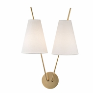 Hudson Valley 6322-AGB Milan Modern Aged Brass Lighting Wall Sconce