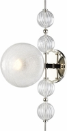 Hudson Valley 6400-PN Calypso Contemporary Polished Nickel Wall Light Sconce