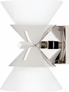 Hudson Valley 6402-PN Stillwell Contemporary Polished Nickel Wall Lighting Sconce
