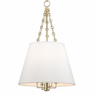 Hudson Valley 6415-AGB Burdett Aged Brass Finish 15  Wide Drop Lighting